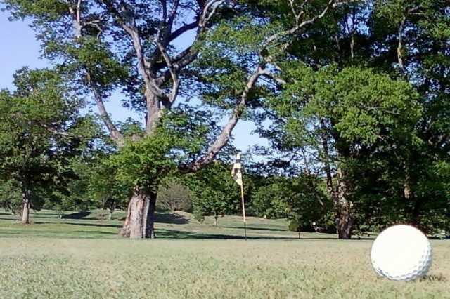 A view of a green at Hazelburn Golf Course