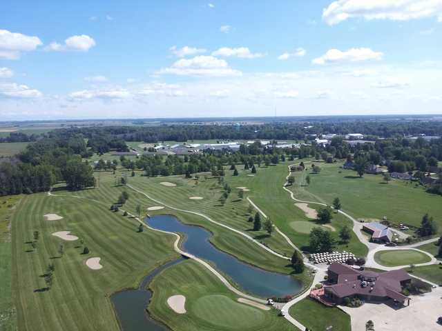 Aerial view from Woodland Hills Golf Club