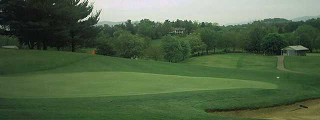 A view of a green at Blue Hills Golf Course