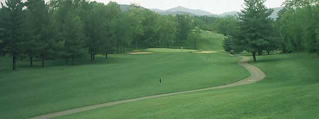 A view of a fairway at Blue Hills Golf Course