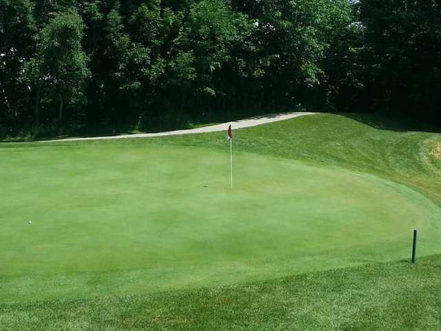 A view of a green at Autumn Ridge Golf Course