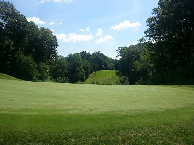 A view of a hole at Autumn Ridge Golf Course