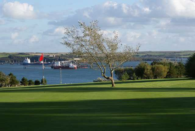 A view of a green at Milford Haven Golf Club