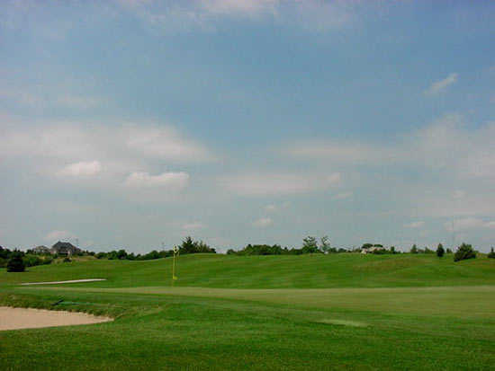 A view of the 10th green at Meadowlark Hills Golf Course