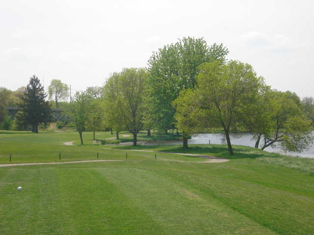 A view from a tee at River Run Golf Course