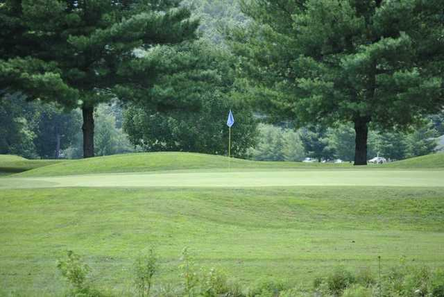 A view of a green at River Bend Golf Club