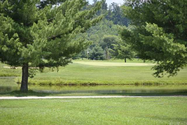 A view over the water from River Bend Golf Club