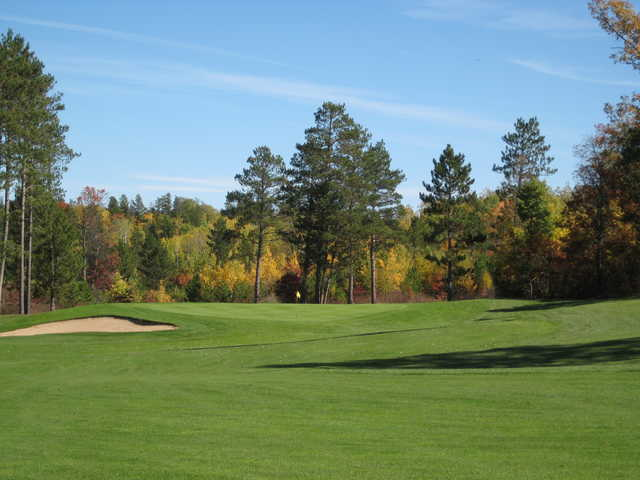 A view of a green at Headwaters Golf Club