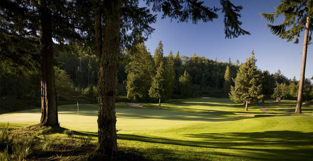 A view of a hole at Port Ludlow Resort