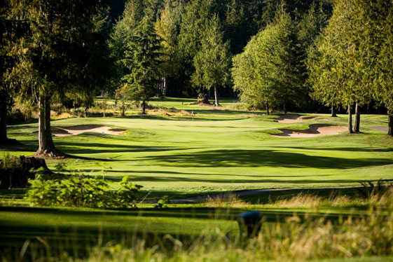 View of the 5th hole from Port Ludlow Resort