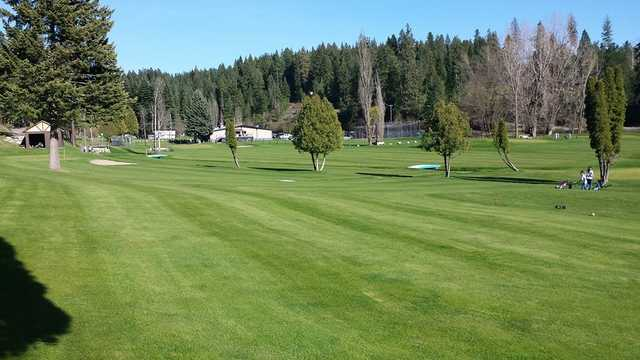 A view of a fairway at Ponderosa Springs Golf Course