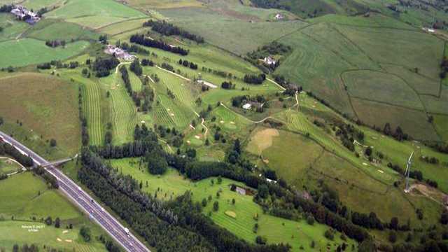Aerial view of Walmersley Golf Club