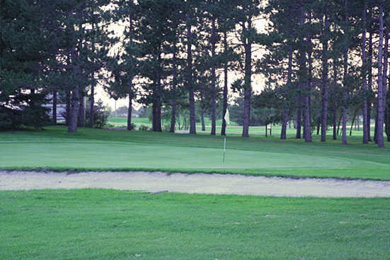 A view of green #9 at Maple from Perham Lakeside Country Club