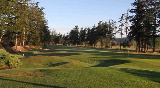 View of a green at Whidbey Golf Club