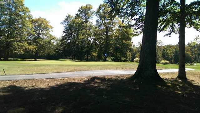 A view of the 5th green at Fox Hollow Golf Club
