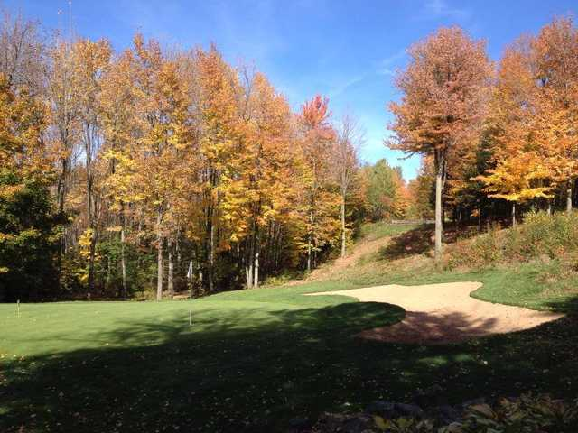 A view of a hole at Pine Valley Golf Course