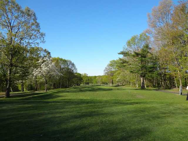 A spring view from the 1st tee at Laurel View Country Club