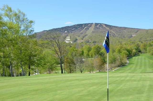 A view from a green at Stratton Mountain Country Club