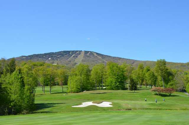 A view of a green at Stratton Mountain Country Club