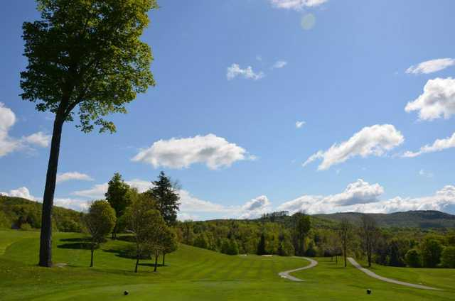 A view from a tee at Stratton Mountain Country Club