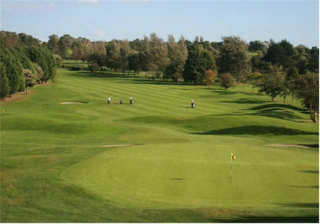The 18th hole at Bangor Golf Club