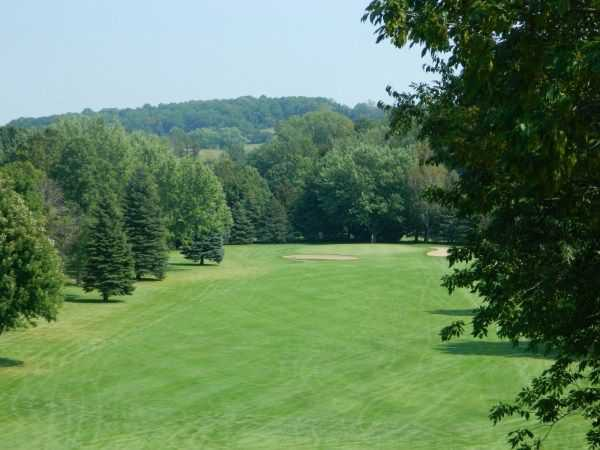A view of a fairway at Scenic View Country Club