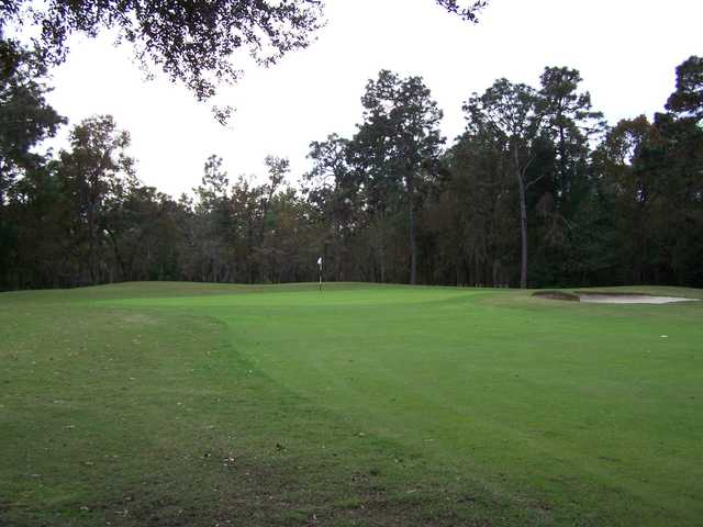 A view of a green at Royal Oaks Golf Club
