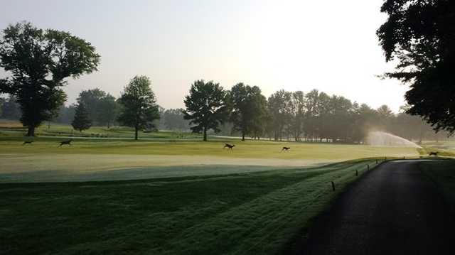 A view of a fairway at Tavistock Country Club