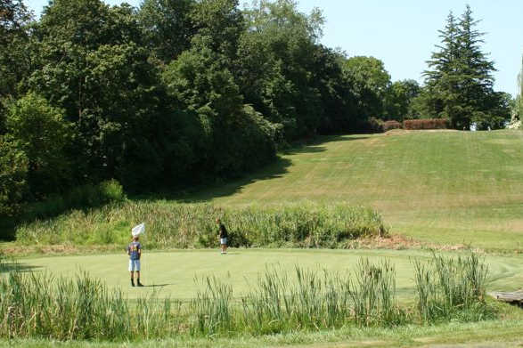 A view of a green at Abington Country Club
