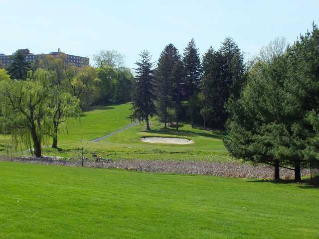 A sunny day view from Abington Country Club
