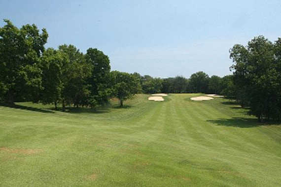 A view of a fairway at Philmont Country Club