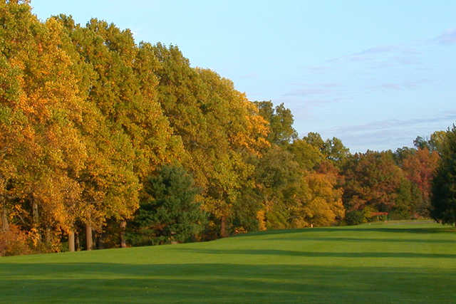 A view of a fairway at Golden Pheasant Golf Club