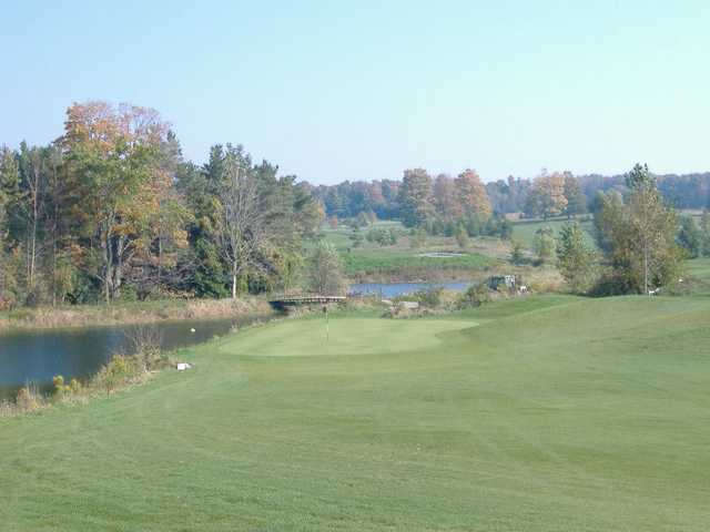 A view of the 10th green at Woodlands Links Golf Course