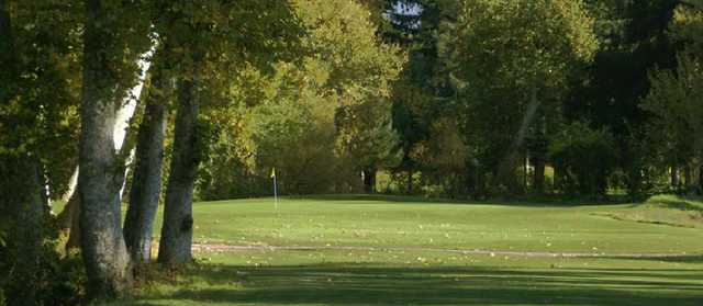 View of the par-4 11th hole at Deep Cliff Golf Course