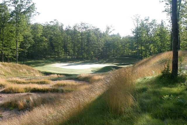 A view of the 16th hole at Big Fish Golf Club