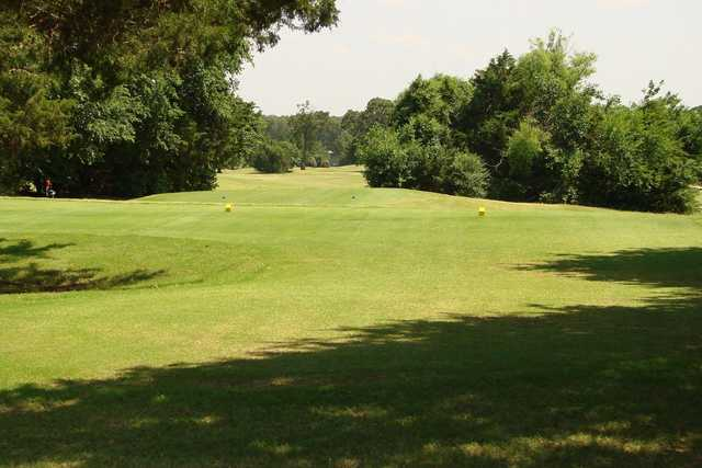 A view from a tee from the Golf Club at Cimarron Trails