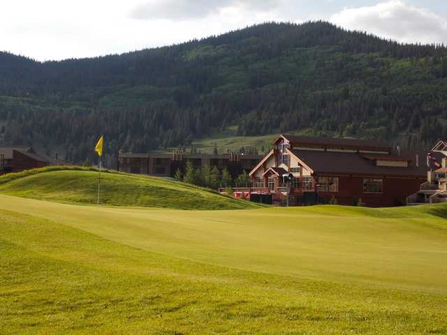 A view of a hole at Copper Creek Golf Club