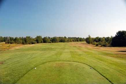 A view from tee #7 at Michigan Tech Portage Lake Golf Course