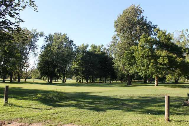 A view of a hole at South Park Golf Course