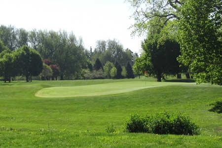 A view of a green at Cazenovia Golf Course