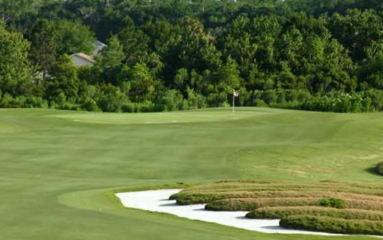 A view from a fairway at Royal St. Cloud Golf Links
