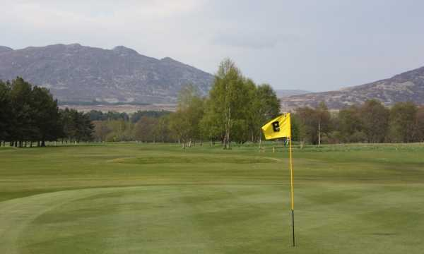 A view of the 9th hole at Newtonmore Golf Club