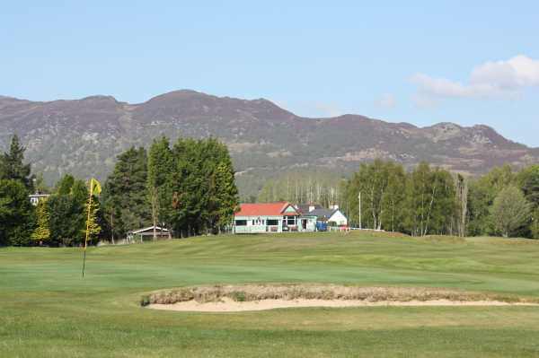 A view of a green at Newtonmore Golf Club