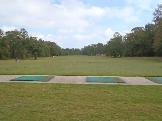 A view from the driving range tees at Red Wolf Golf Resort