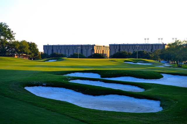 A view of the 18th green at The Golf Club at Texas A&M