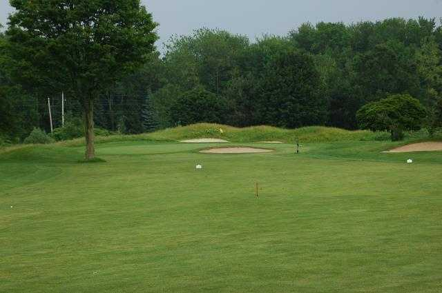 A view of green #8 at New Course from Hidden Lake Golf Club