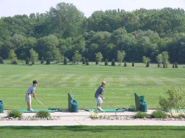 A view from the driving range tees at Creekside Golf Course