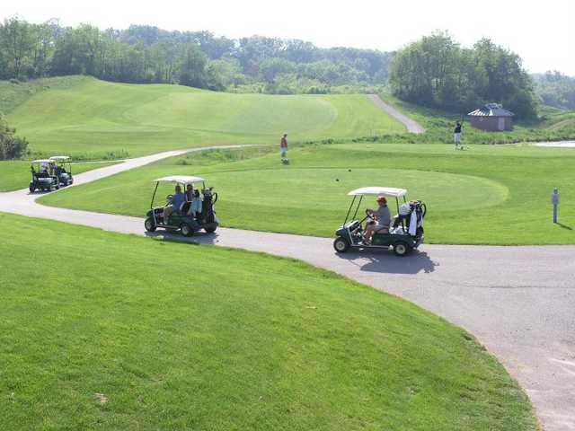 A view of a tee at Creekside Golf Course