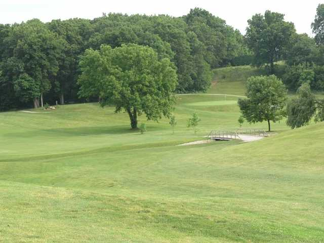 A view from a fairway at Forest Park Golf Course