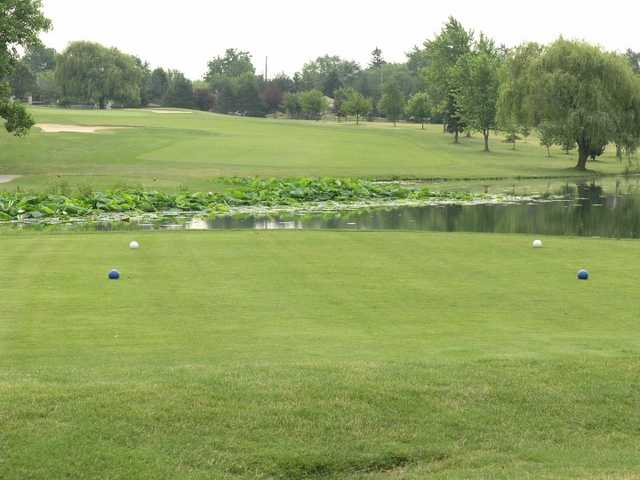 A view from a tee at Forest Park Golf Course